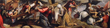 Jacopo Palma il Giovane - Kreuztragung Christi