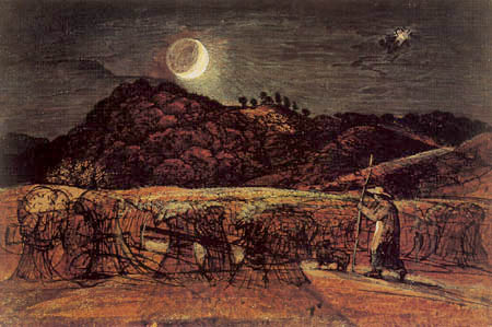 Samuel Palmer - A Cornfield by Moonlight with the Evening Star
