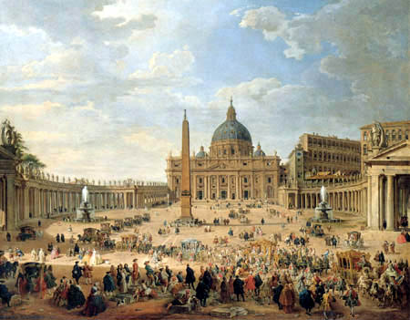 Giovanni Paolo Panini - Saint Peter's Square in Rome