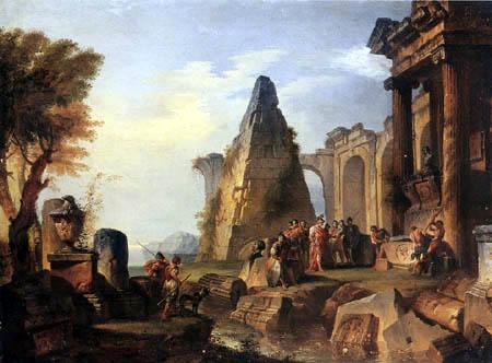 Giovanni Paolo Panini - Capriccio with Alexander