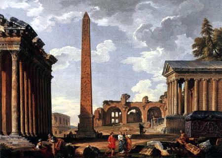 Giovanni Paolo Panini - Ruins, Study