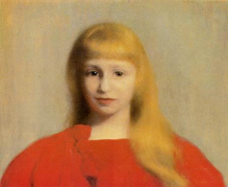 Józef Pankiewicz - Mädchen im roten Kleid