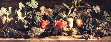 Pietro Paolini - Bunches of Grapes and Pomegranates