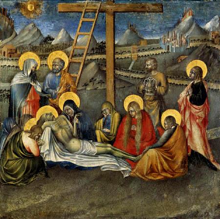 Giovanni di Paolo - Die Beweinung Christi