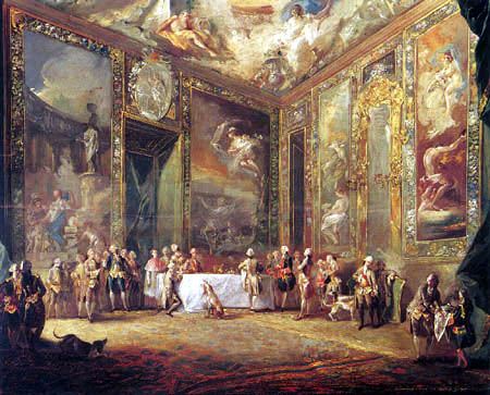 Luis Paret y Alcázar - Charles III eating before his Court