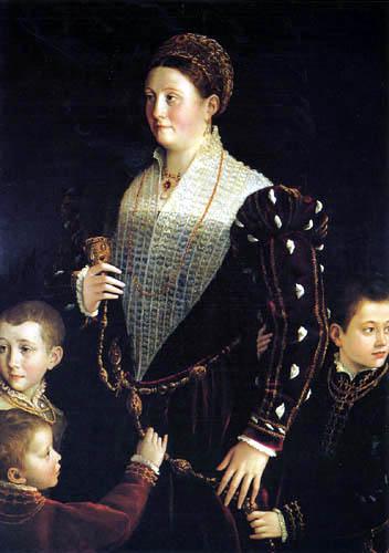 Il  Parmigianino (Girolamo Francesco M. Mazzola) - Portrait de la comtesse de Sansecondo avec trois fils
