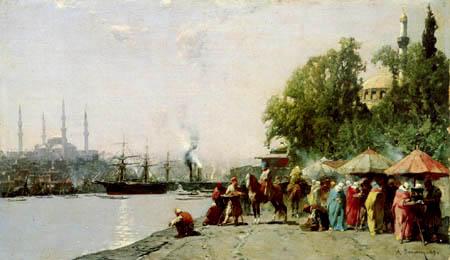 Alberto Pasini - Der Hafen von Istanbul