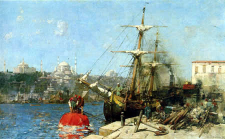 Alberto Pasini - On the Gold Horn, Istanbul