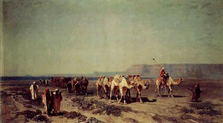 Alberto Pasini - Karawane vor dem roten Meer