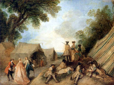 Jean-Baptiste Pater - The visit in the camp