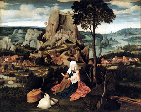 Joachim Patinier (Patenier) - Resting on the flight into Egypt