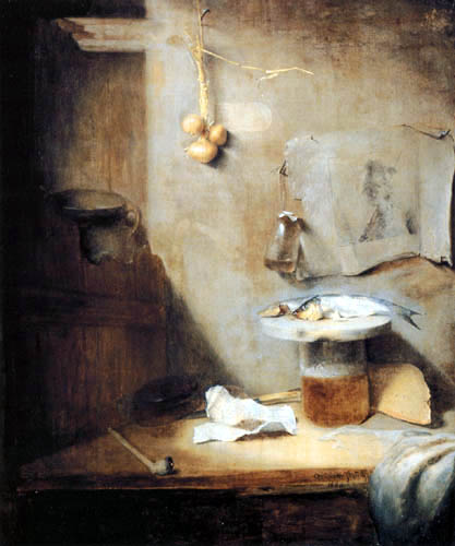 Christopher Paudiss - Still life with beer, herring and pipe