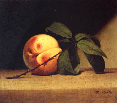 Raphaelle Peale - Still life with a peach