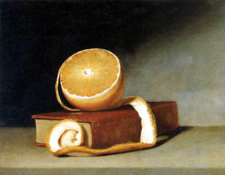 Raphaelle Peale - Still life with Orange and Book