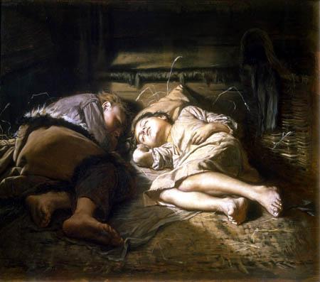 Wassili Perow - Sleeping children