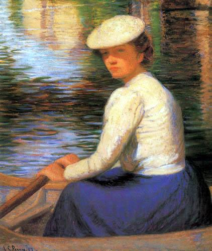 Lilla Cabot Perry - Señora en un bote de remos