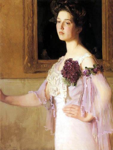 Lilla Cabot Perry - Retrato de Mrs. J. Clark Grew