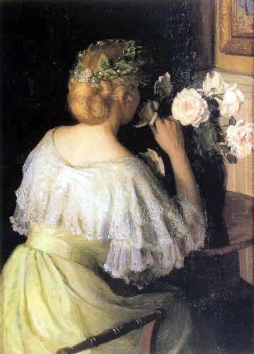 Lilla Cabot Perry - Rosas blancas
