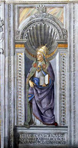 Perugino (Pietro di Cristoforo Vannucci) - Saint Telesphorus