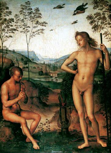 Perugino (Pietro di Cristoforo Vannucci) - Apollo and Marsyas