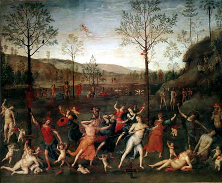 Perugino (Pietro di Cristoforo Vannucci) - Wettstreit der Liebe und der Keuschheit