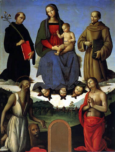 Perugino (Pietro di Cristoforo Vannucci) - Madonna with child