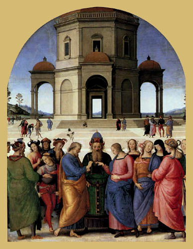 Perugino (Pietro di Cristoforo Vannucci) - Vermählung Mariens