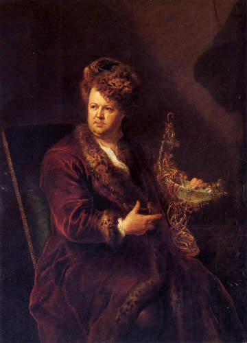 Antoine Pesne - Porträt Johann Melchior Dinglinger