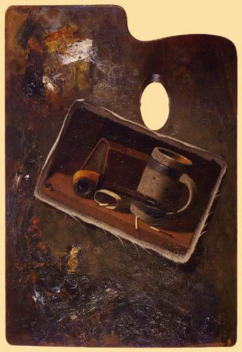 John Frederick Peto - Still life on a pallet