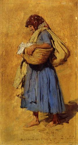August von Pettenkofen - Peasant woman