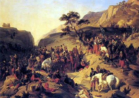 Henri Félix Emmanuel Philippoteaux - The catch of the col of Mouzaia