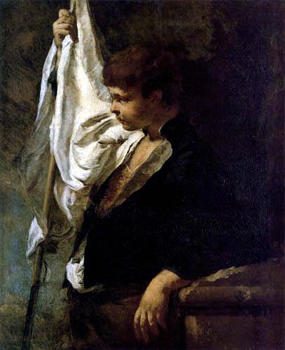 Giovanni Battista Piazzetta - Ein junger Fahnenträger
