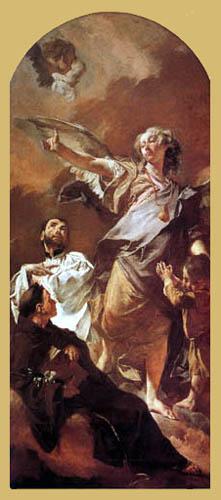 Giovanni Battista Piazzetta - Der Engel mit dem hl. Antonius