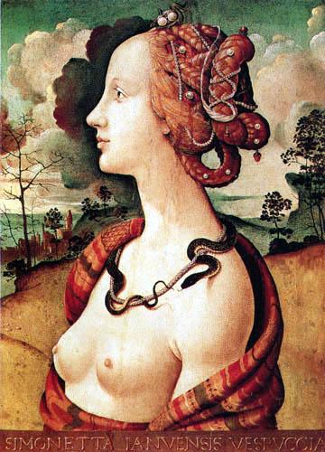 Piero di Cosimo (Piero di Lorenzo) - Simonetta Ianvensis Vespuccia