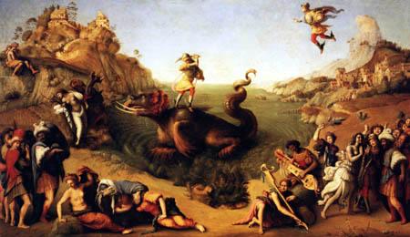 Piero di Cosimo (Piero di Lorenzo) - Perseus releases Andromeda
