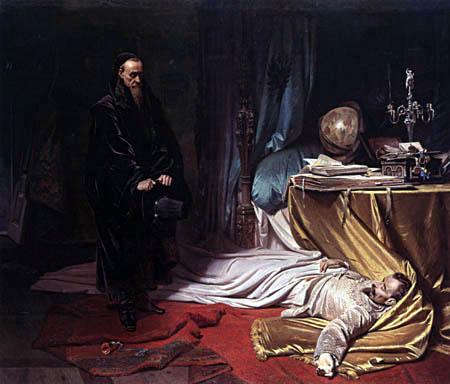 Karl T. von Piloty - Seni vor der Leiche Wallensteins