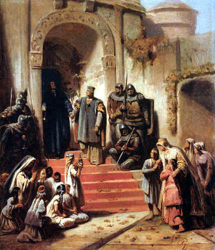 Karl T. von Piloty - The release of Friedrich the beautiful