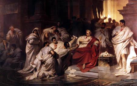 Karl T. von Piloty - The murder of Caesar