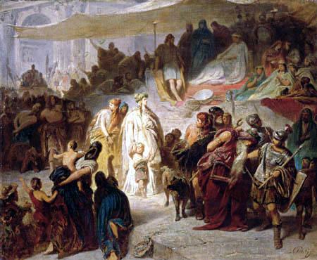 Karl T. von Piloty - Thusnelda im Triumphzug des Germanicus, Skizze