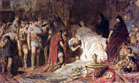 Karl T. von Piloty - The Death of Alexander the Great