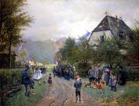 Otto Piltz - Fahnenweihe in Oberbayern
