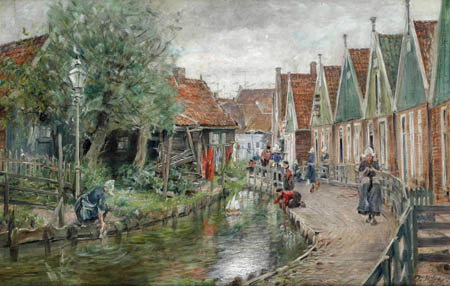 Otto Piltz - Kanal in Holland