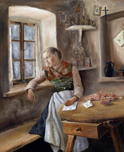 Otto Piltz - Mädchen am Fenster