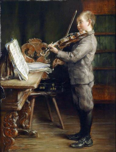 Otto Piltz - Boy with violin