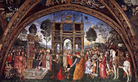 Pinturicchio (Bernardino di Betto) - La Discusión