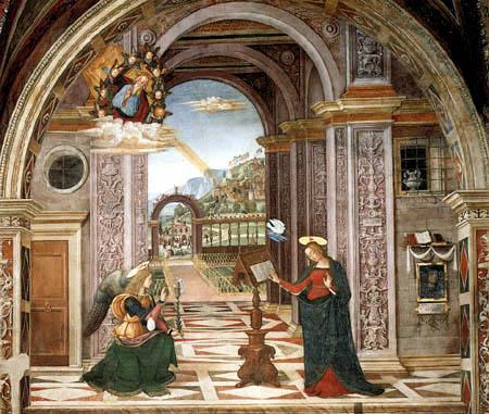 Pinturicchio (Bernardino di Betto) - Verkündigung
