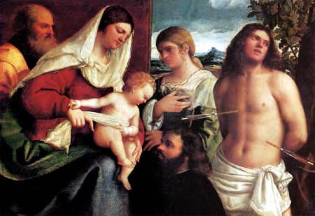 Sebastiano del Piombo - The holy family