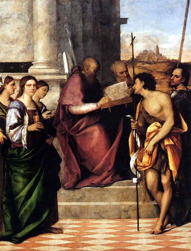 Sebastiano del Piombo - Der hl. Johannes Chrysostomos
