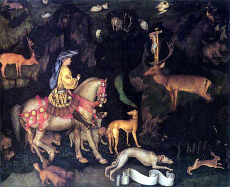 Pisanello (Antonio Pisano) - The vision of Saint Eustace
