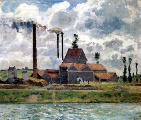 Camille Pissarro - Die Fabrik in Pontoise